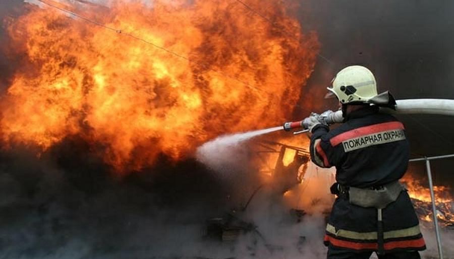 Пожар в Сясьстрое
