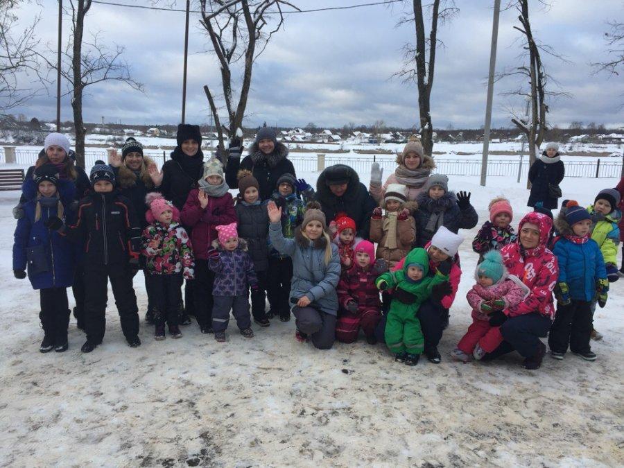 Зимние забавы в парке