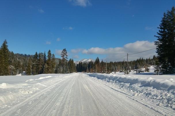 На федеральных трассах в Ленобласти правят знаки и убирают снежные валы