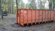Завершаются работы по вывозу мусора вдоль Волховского проспекта