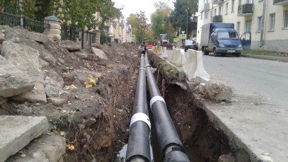 Масштабная замена тепловой сети на ул.Лукьянова, г.Волхов