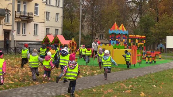 Новая площадка для волховских малышей