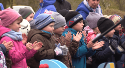 В Волхове открыли две новые детские игровые площадки. Видеосюжет