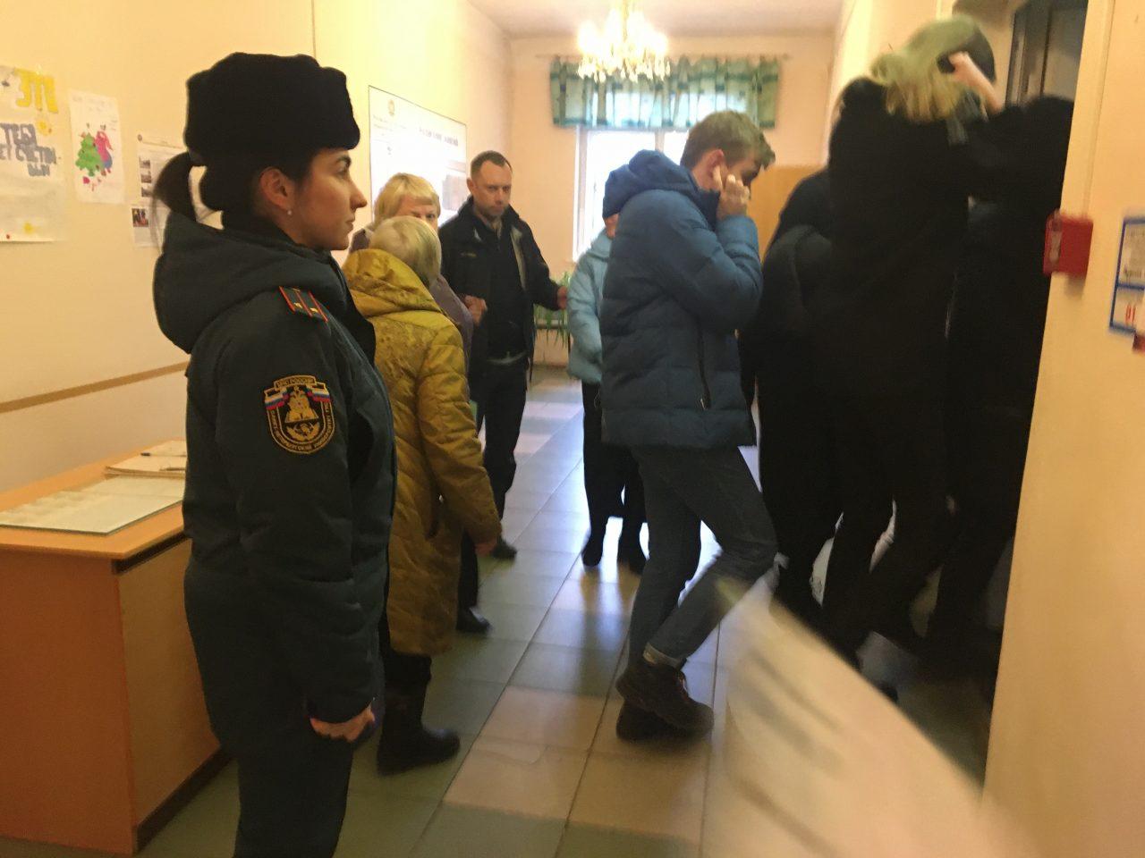 Учебная эвакуация в Волховском филиале РГПУ им. А.И. Герцена