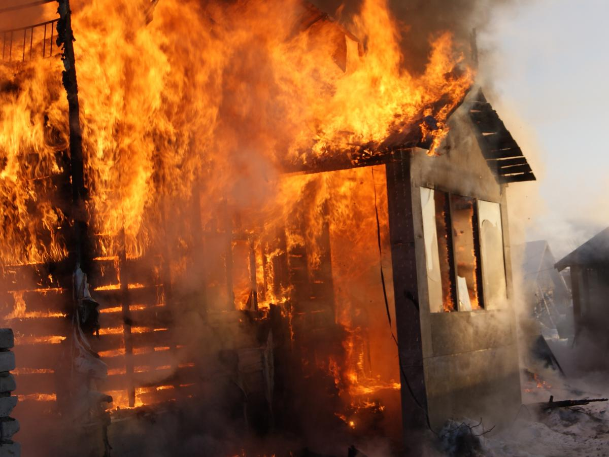 исполнения фотографии горящих домов его опишет