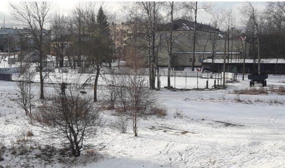 Новая хоккейная площадка в Новой Ладоге
