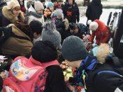 Митинг в Селиваново в честь 76-й годовщины снятия блокады Ленинграда