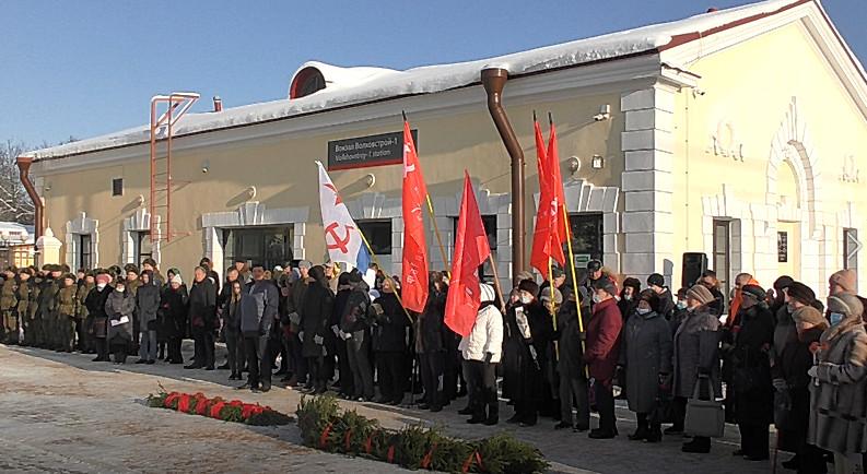 Акция памяти «Блок Ада» прошла на станции Волховстрой-1