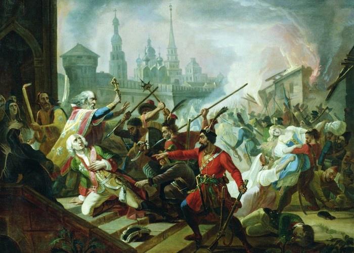 Крестьянская армия Емельяна Пугачёва взяла Казань