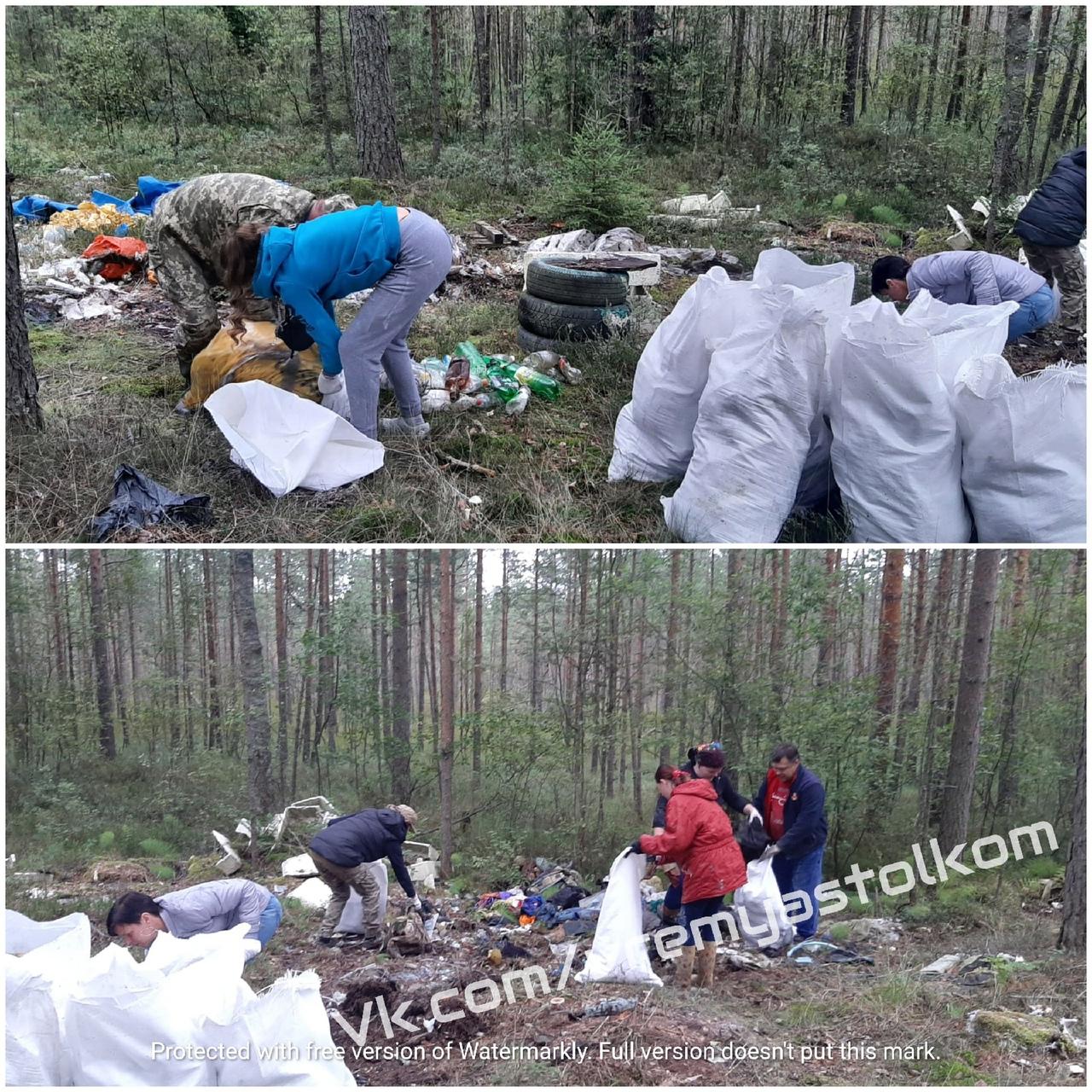 А вот ещё одна история из леса, который недалеко от Немятово