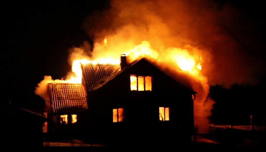 Очередной пожар в Пупышево