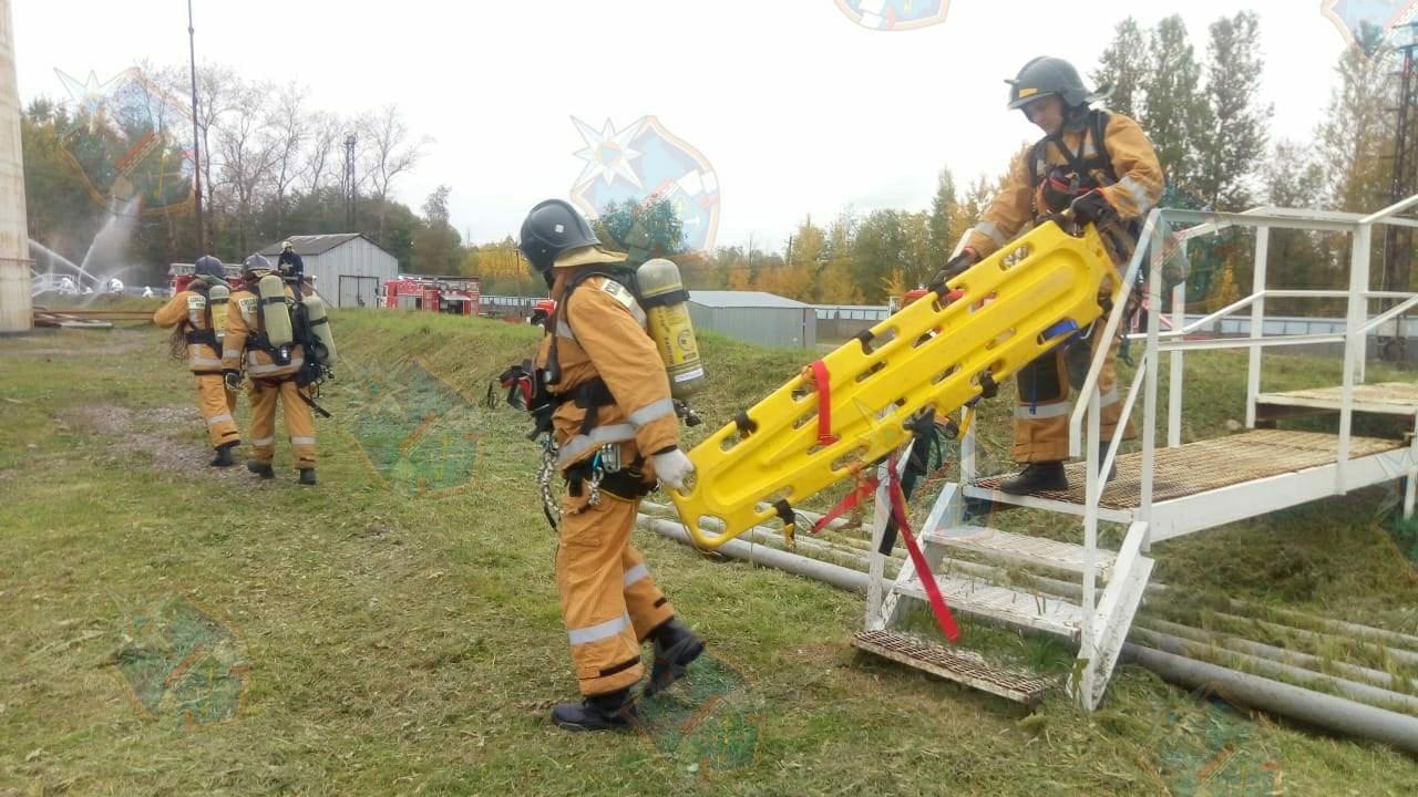 Спасатели ПСО Новой Ладоги успешно справились с учениями