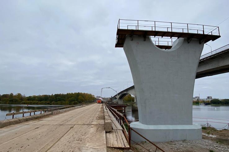 Мост через Волхов опережает график