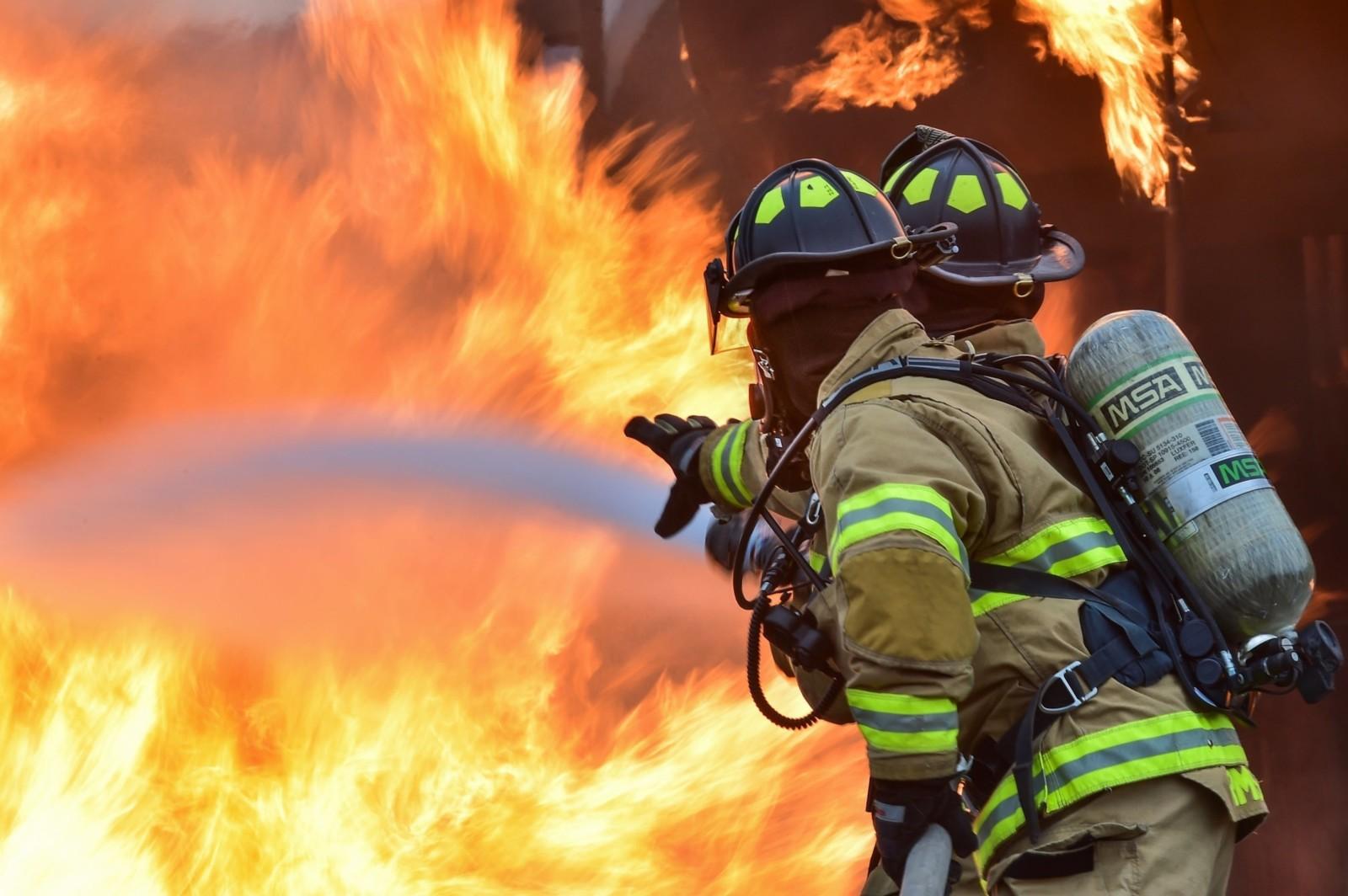 В эту субботу в Алеховщине тушили пожар