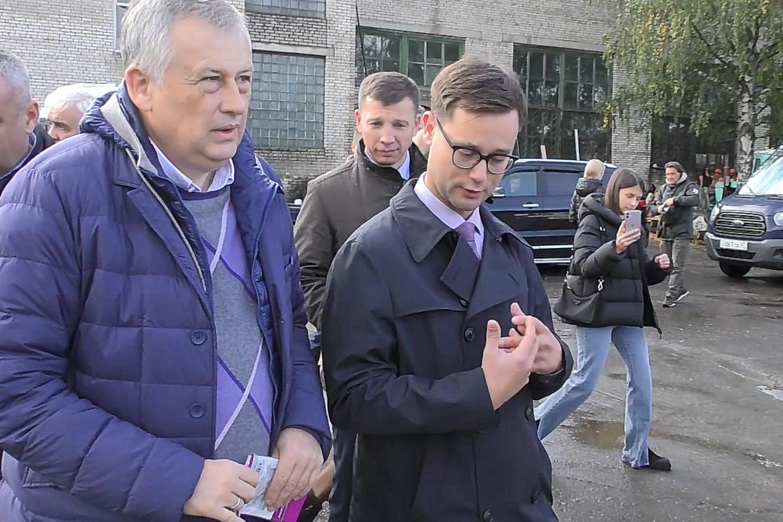 Губернатор в Волховском районе