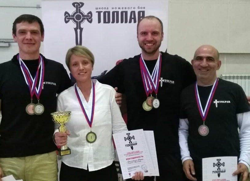 Земляки успешно выступили на Кубке по ножевому бою